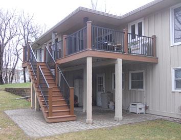 Deck Addition Goodrich Construction