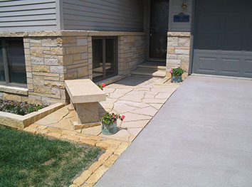 Exterior Entryway Masonry Concrete Stonework