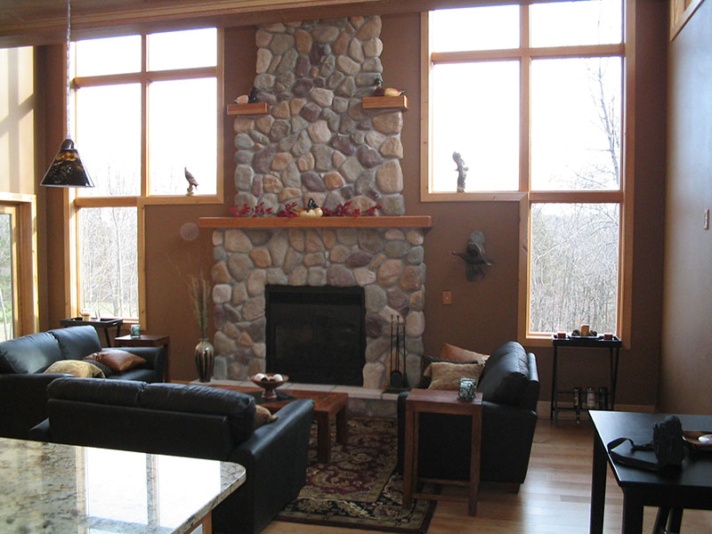 Fireplace Residential Goodrich Construction