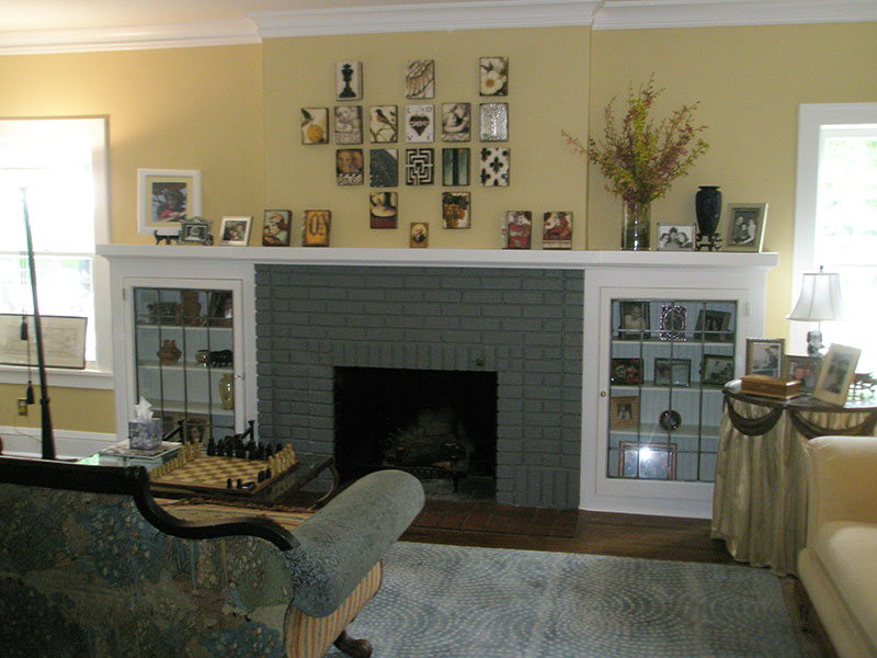 Modern Fireplace Residential Goodrich Construction