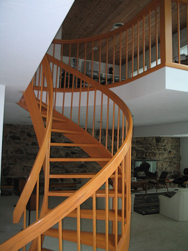 Spiral Staircase Residential Goodrich Construction